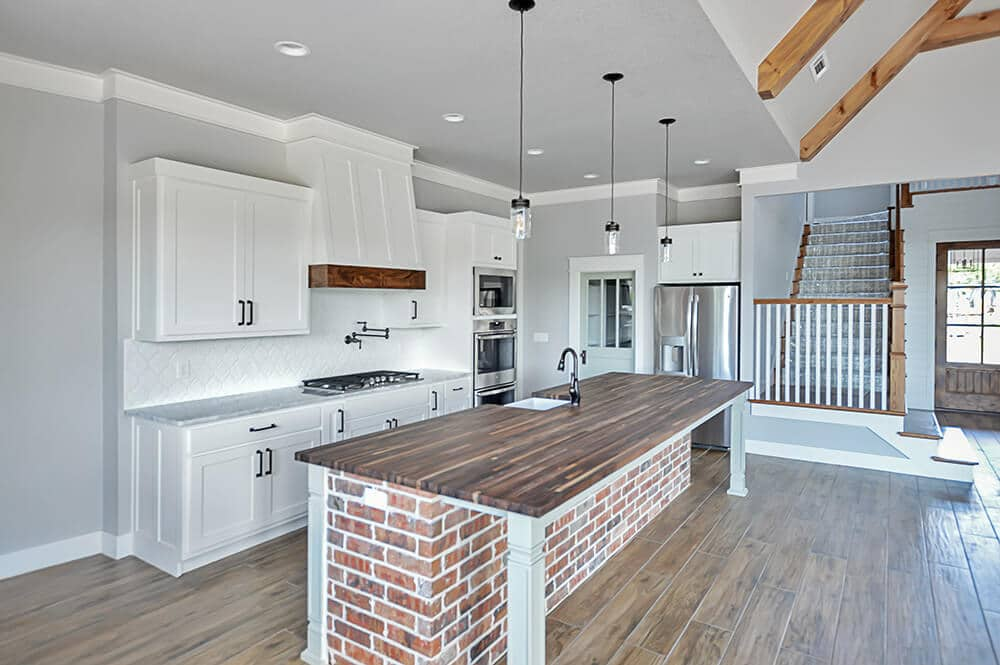 white kitchen home builder Northwest Arkansas