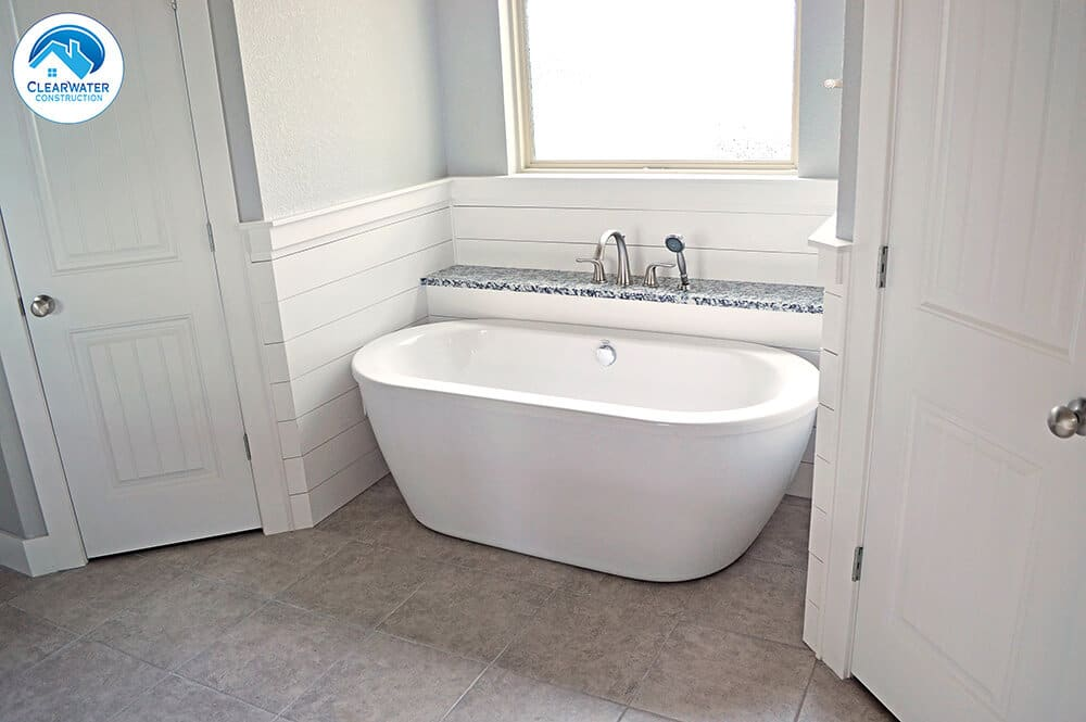 white bathtub home builder Northwest Arkansas