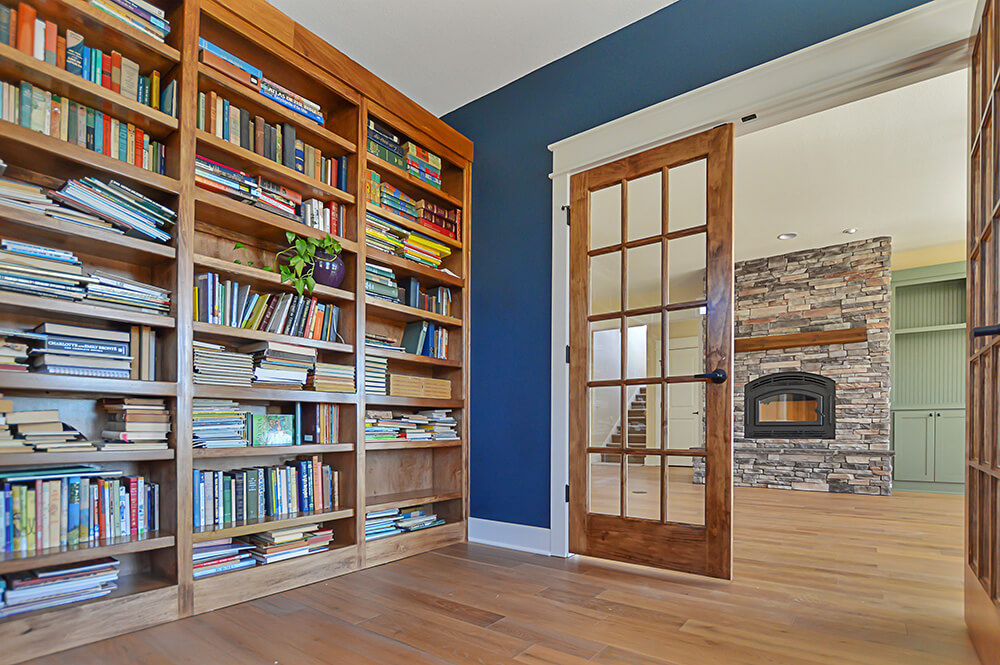 gallery custom home library