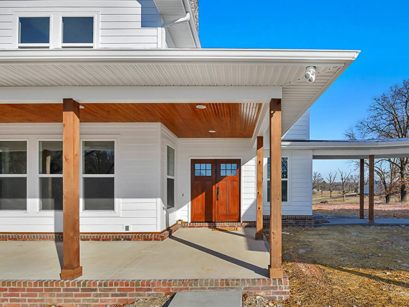 house porch home builder Northwest Arkansas